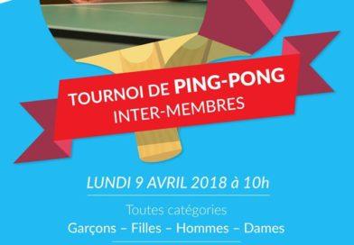 Tournoi de Ping-Pong inter-membres 2018